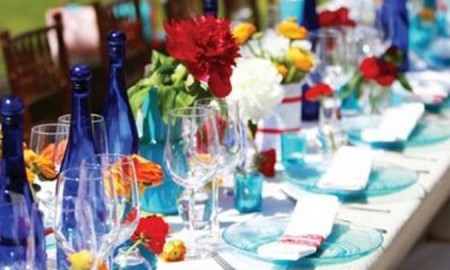 Wedding Decor - SMP Blue red yellow table