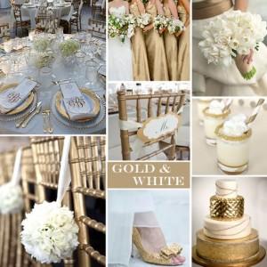 gold en white