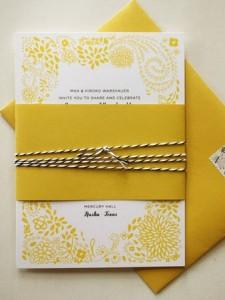 Gele uitnodiging