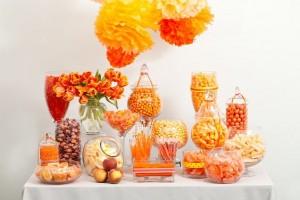 Orange candytable