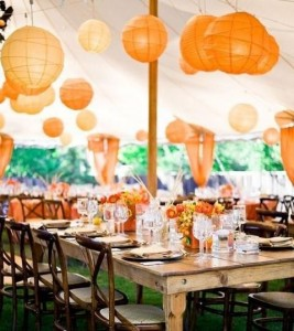 Oranje tafelstyling