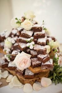 Brownietoren bruidstaart