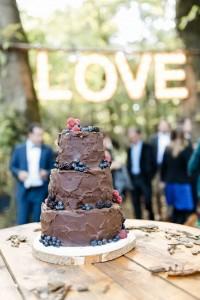 Chocolate bruidstaart