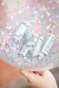 Geld in ballon