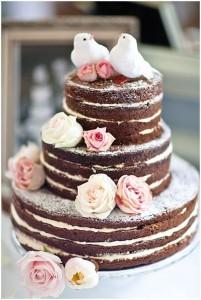 Naked cake chocolade