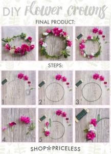 DIY bloemen krans