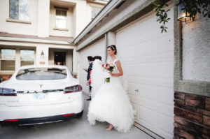 Duurzaam trouwen Tesla Model S