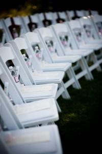 Water bottles at wedding